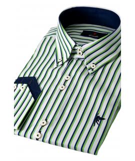 Cuello Raya verde Marino