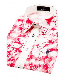 Pisa  Flores Rojas y Blancas