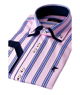 Milano Blue Striped
