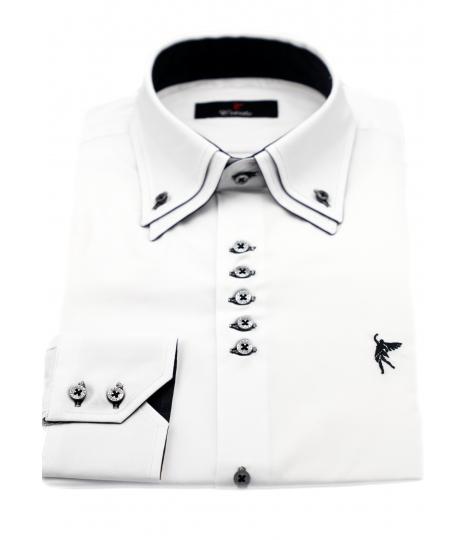 Doble cuello Blanco elegante