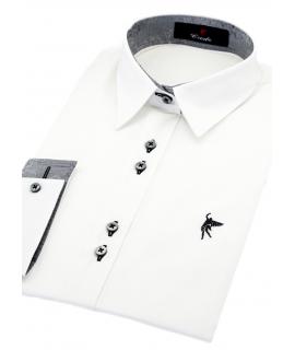 camisa manga corta celeste