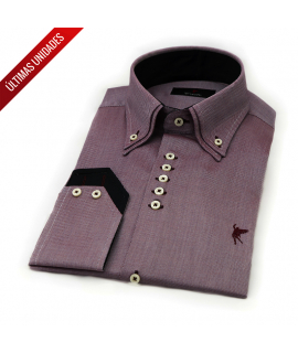 Doble cuello Rojo oxford