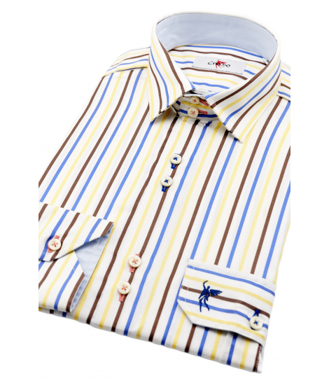 Milano Red & Blue Striped