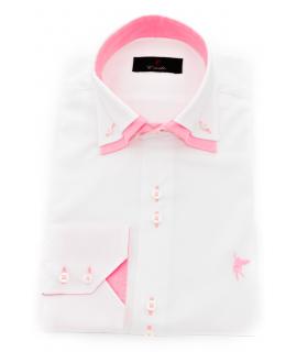 Doble cuello Blanca rosa