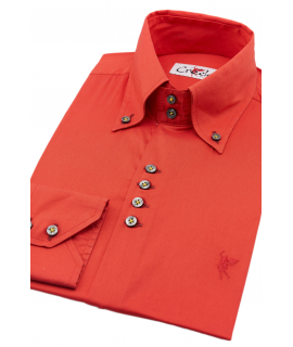 Red shirt Button down