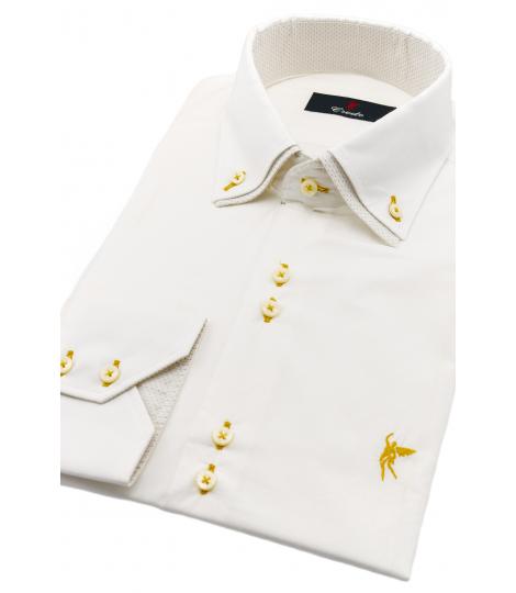 Doble cuello Blanca Dorado