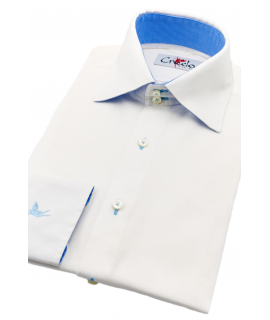 Palermo White Big Collar