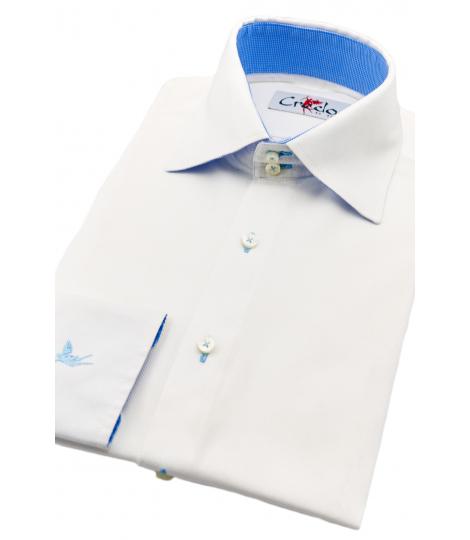 Palermo White Big Collar