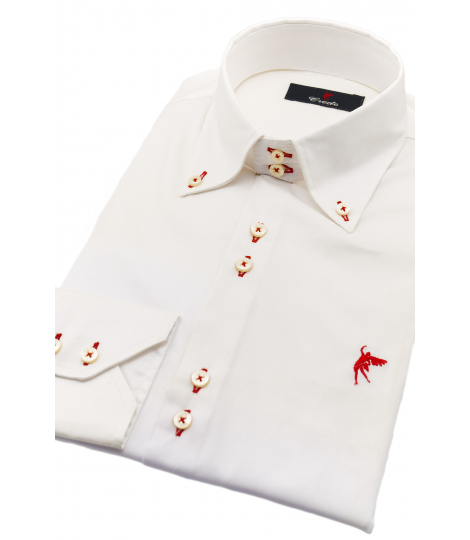 One collar white & red