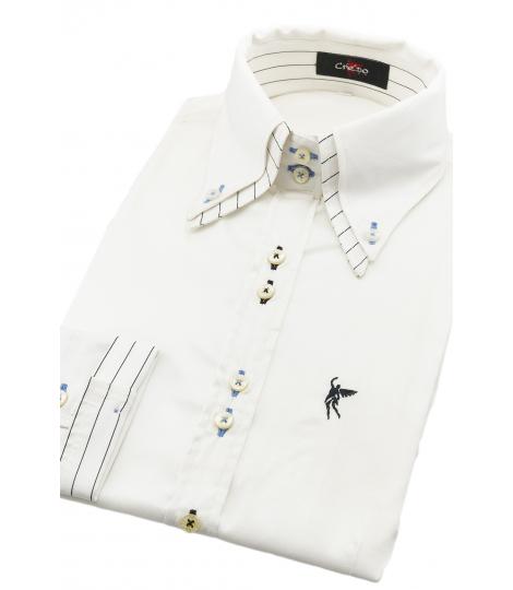 Double collar White