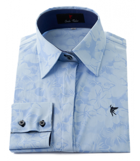 shirt dress colors blue flowers